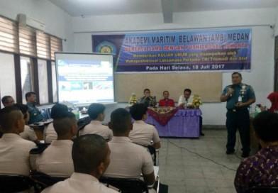 PELAKSANAAN KULIAH UMUM di AMB Medan Oleh TENTARA NASIONAL INDONESIA ANGKATAN LAUT PUSAT HODROGRAFI DAN OSEANOGRAFI