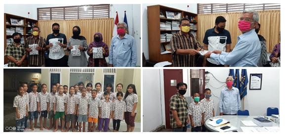 AMB MEDAN SALURKAN BANTUAN SOSIAL  KEPADA ANAK KARYAWAN AMB MEDAN DAN ANAK YATIM PANTI ASUHAN SAHABAT ANAK INDONESIA